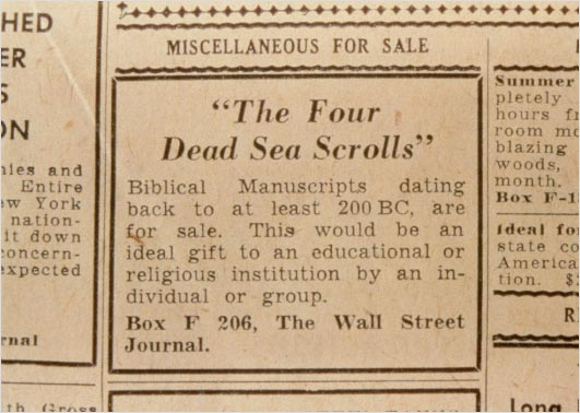 Wall Street Journal and the Dead Sea Scrolls