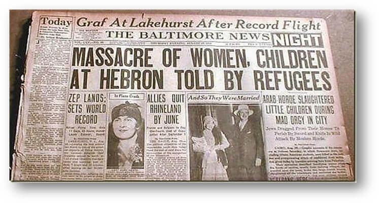 The Hebron Massacre, 90 Years Later